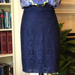 NWT The Limited Navy pencil skirt